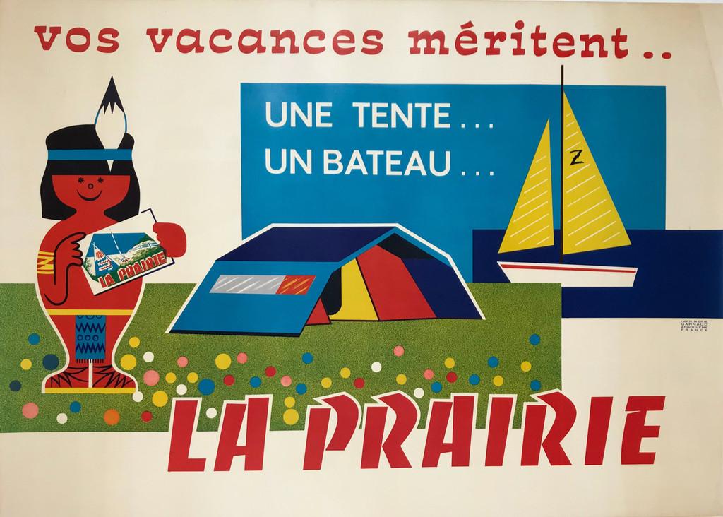 La Prairie Vos Vacances Meritent French 1949 Poster