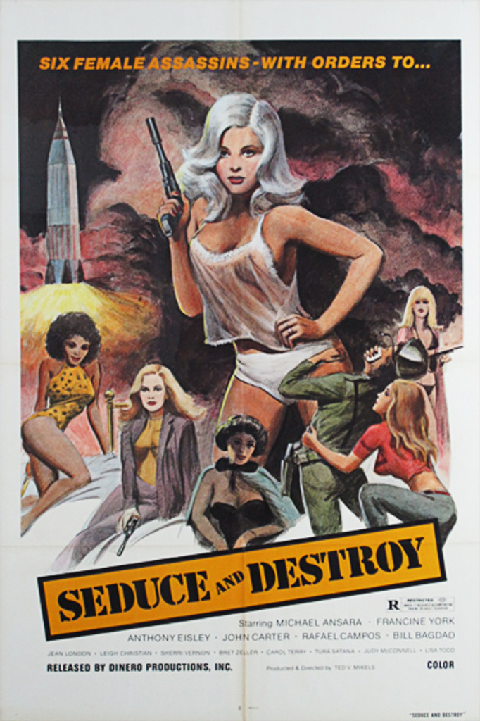 Seduce and Destroy original movie poster from 1973 USA