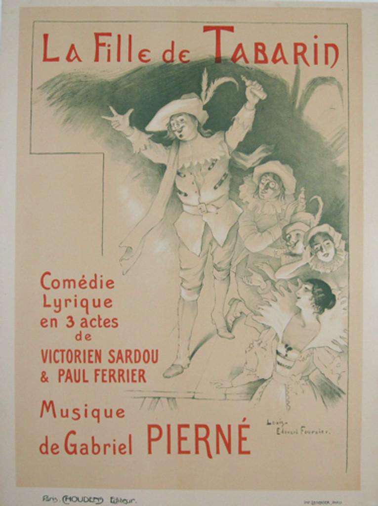 La Fille de Tabarin Comedie Lirique original vintage poster by Louis E. Fournier from 1894 France