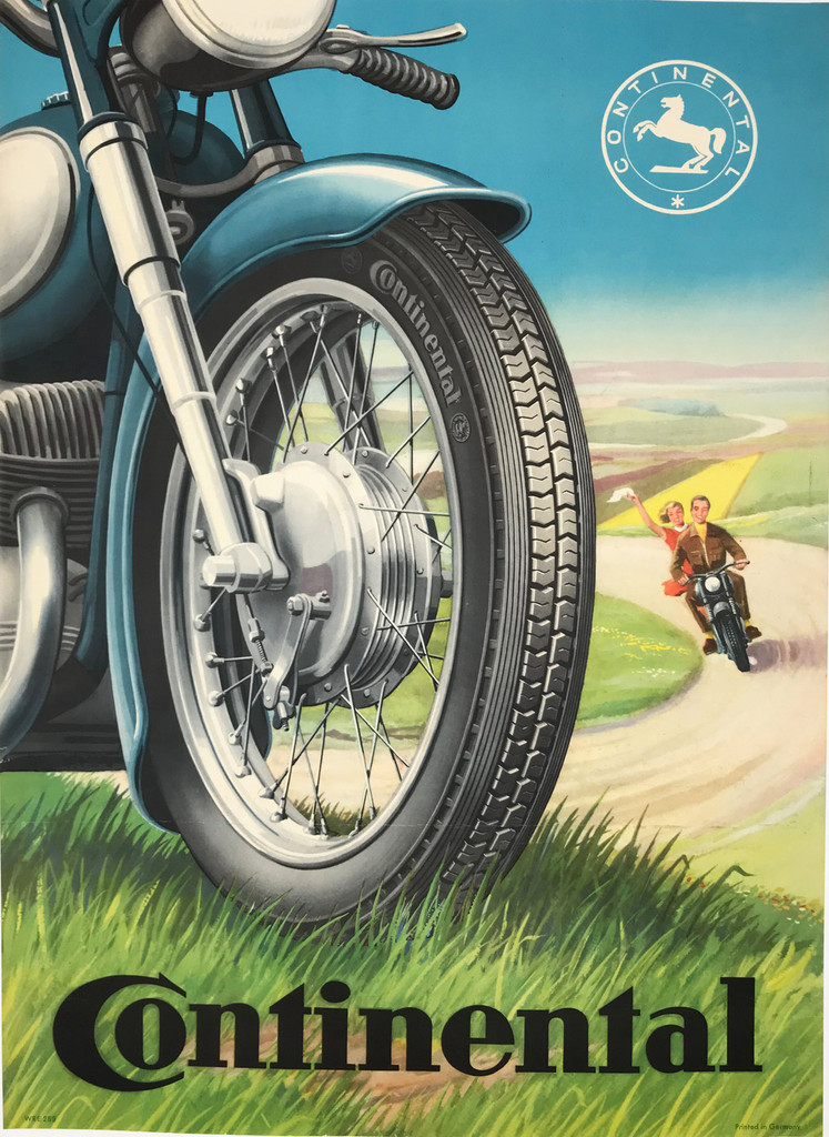 Original 1958 Continental Tire Germany Poster
