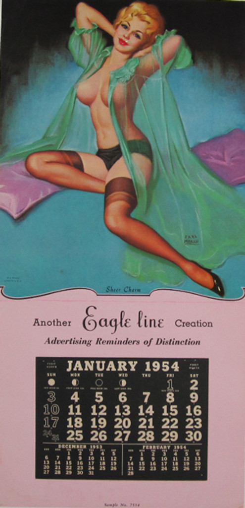 Sheer Charm by Earl Moran original vintage poster from 1954 USA.