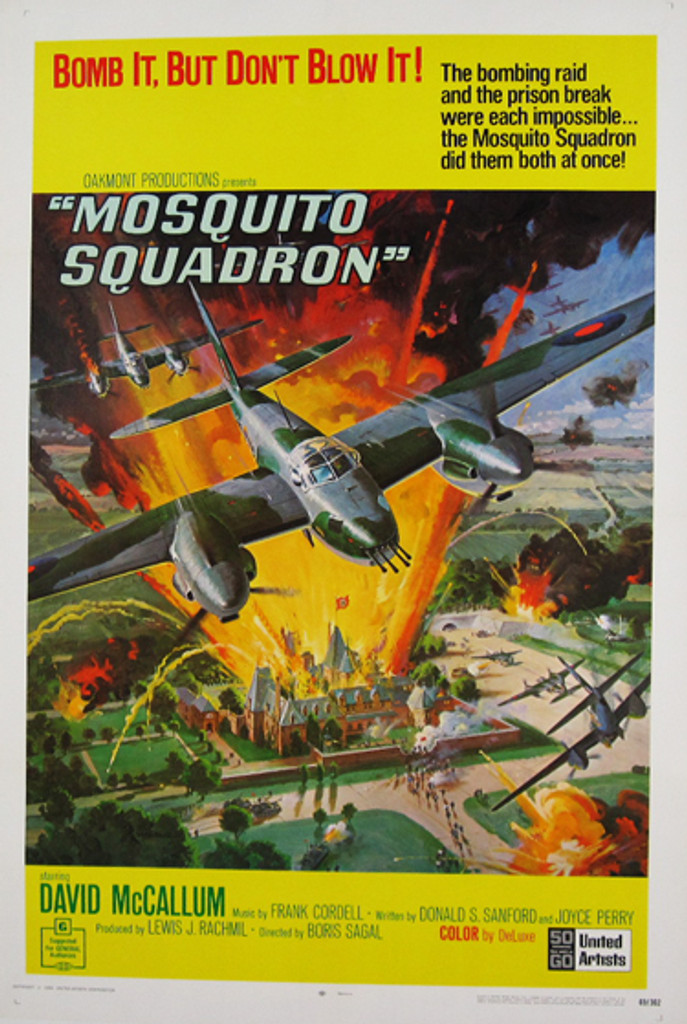 Mosquito Squadron original movie poster from 1969 USA