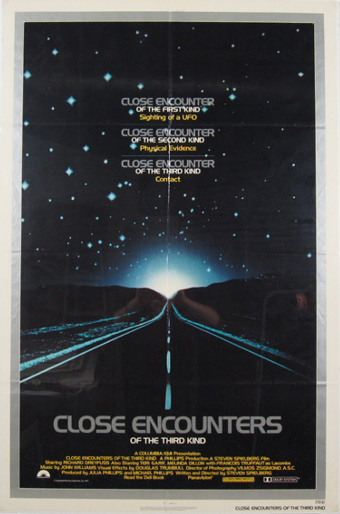 Close Encounters Of The Third Kind original movie poster from 1977 USA