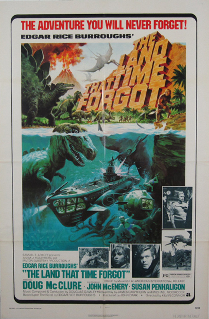 The Land That Time Forgot original movie poster from 1975 USA