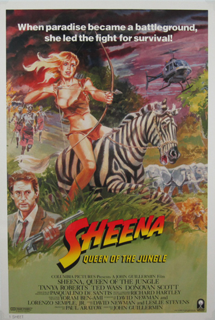 Sheena Queen of the Jungle original movie poster from 1984 USA