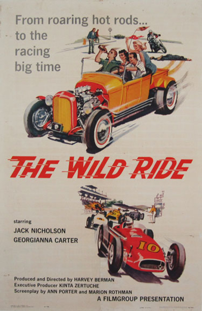 The Wild Ride original movie poster from 1960 USA