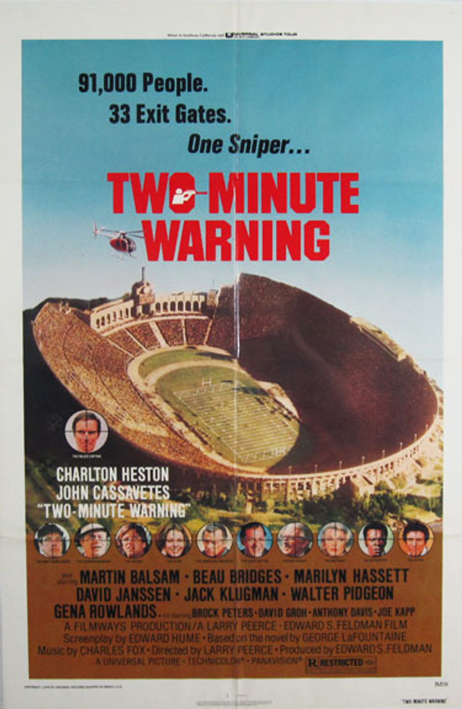 Two Minute Warning original movie poster from 1976 USA