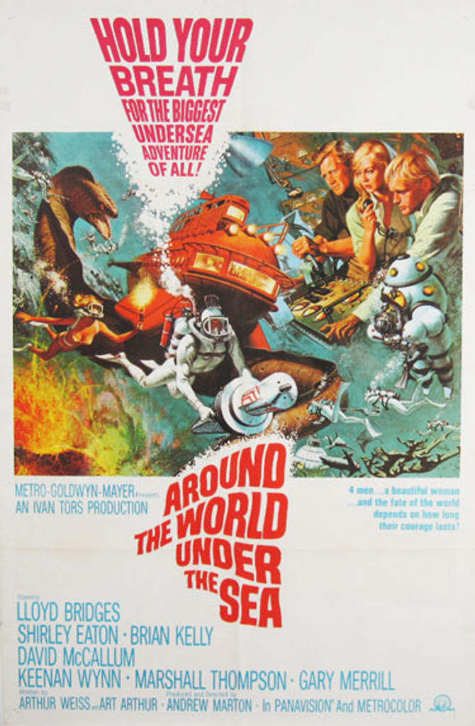 Around The World Under The Sea original movie poster from 1966 USA