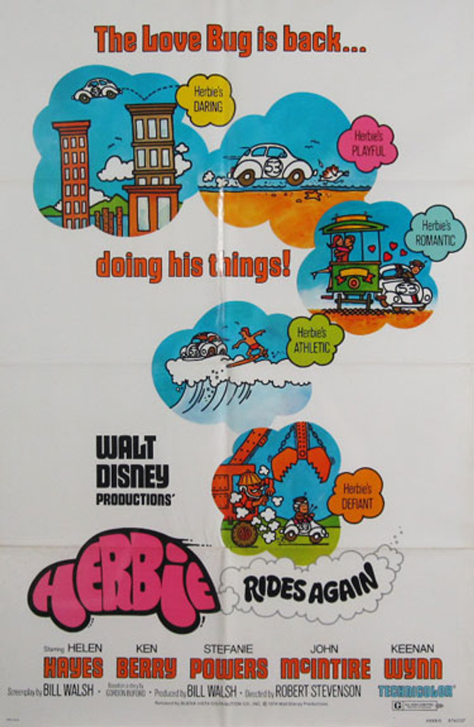Herbie Rides Again original movie poster from 1974 USA