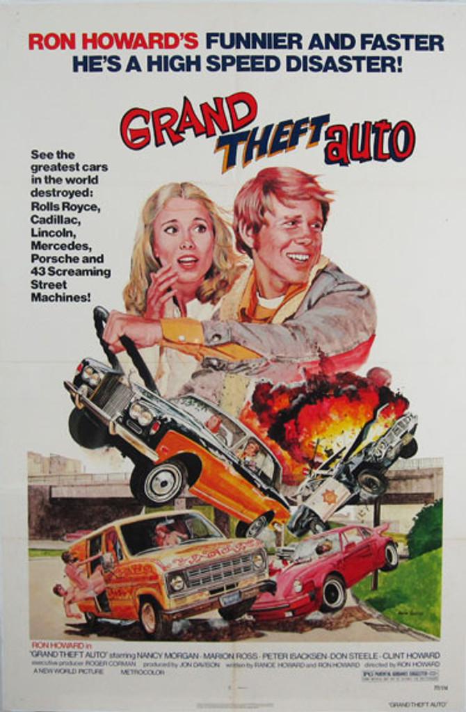 Grand Theft Auto original movie poster from 1977 USA