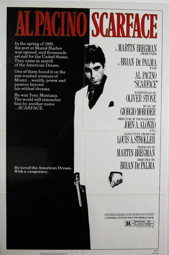 Scarface - Al Pacino original movie poster from 1983 USA
