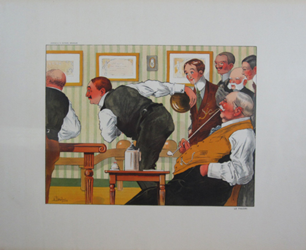 "Gallery Decorative - Le Favori ""Bowling"" by Droit original vintage poster from 1910 France."