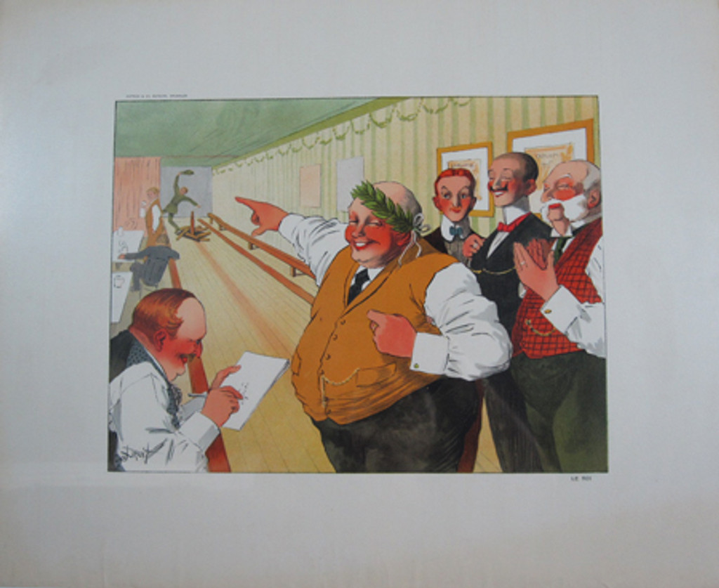 """Gallery Decorative - Le Roi """"Bowling"""" by Droit original vintage poster from 1910 France."""