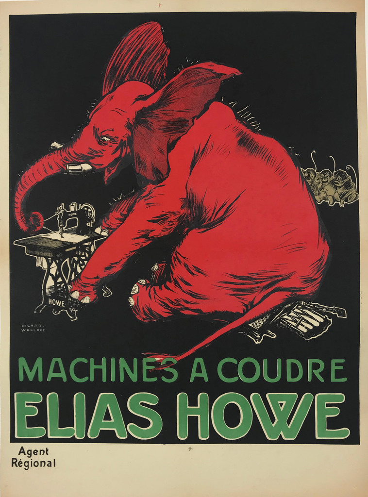 French Sewing Machines Coudre Elias Howe Poster