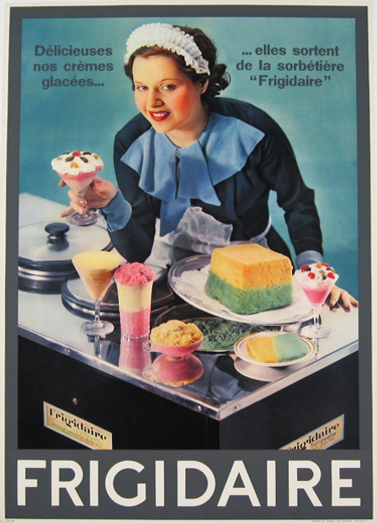 Frigidaire French original poster from 1956.