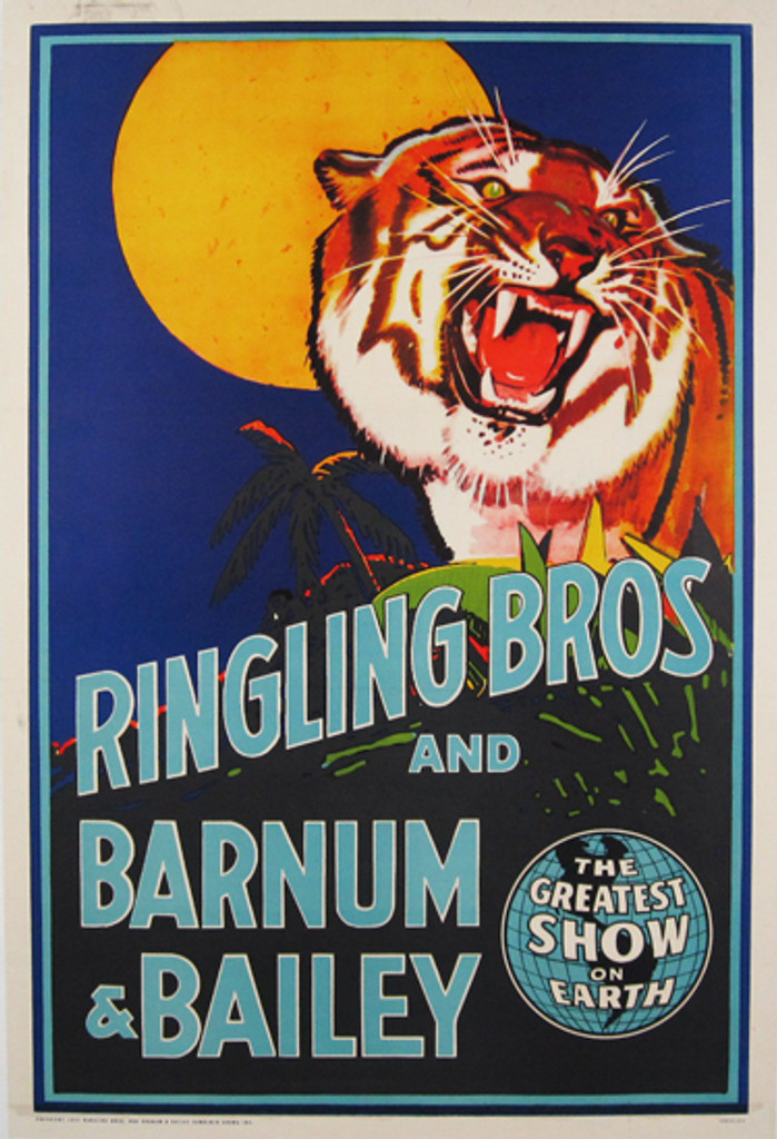 Ringling Bros and Barnum & Bailey original vintage poster from 1942 USA