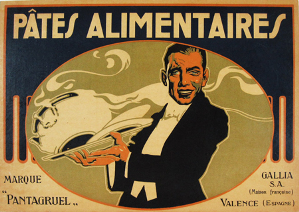 Pates Alimentaires original vintage poster from 1930 Spain