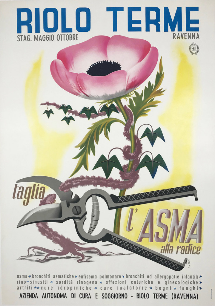 Riolo Terme Taglia L'Asma A'lla Radice Tourism by Train Poster
