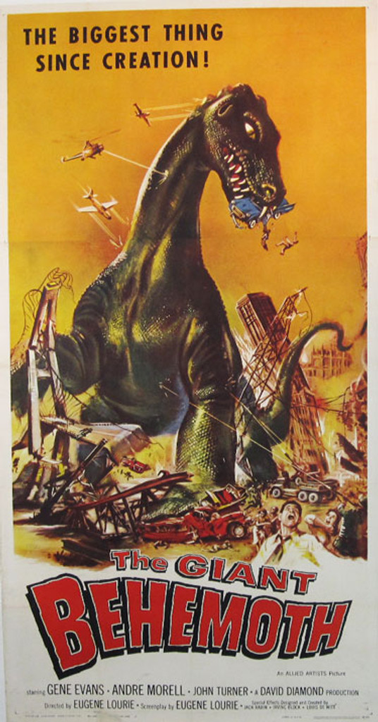 The Giant Behemoth original movie poster from 1958
