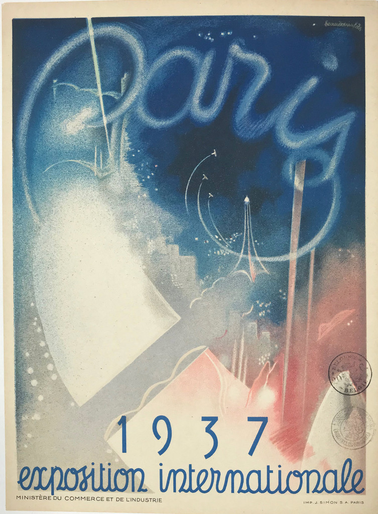 Paris Internationale Exposition 1937 (Small Size) Poster by Eugene Beaudoin & Marcel Lods