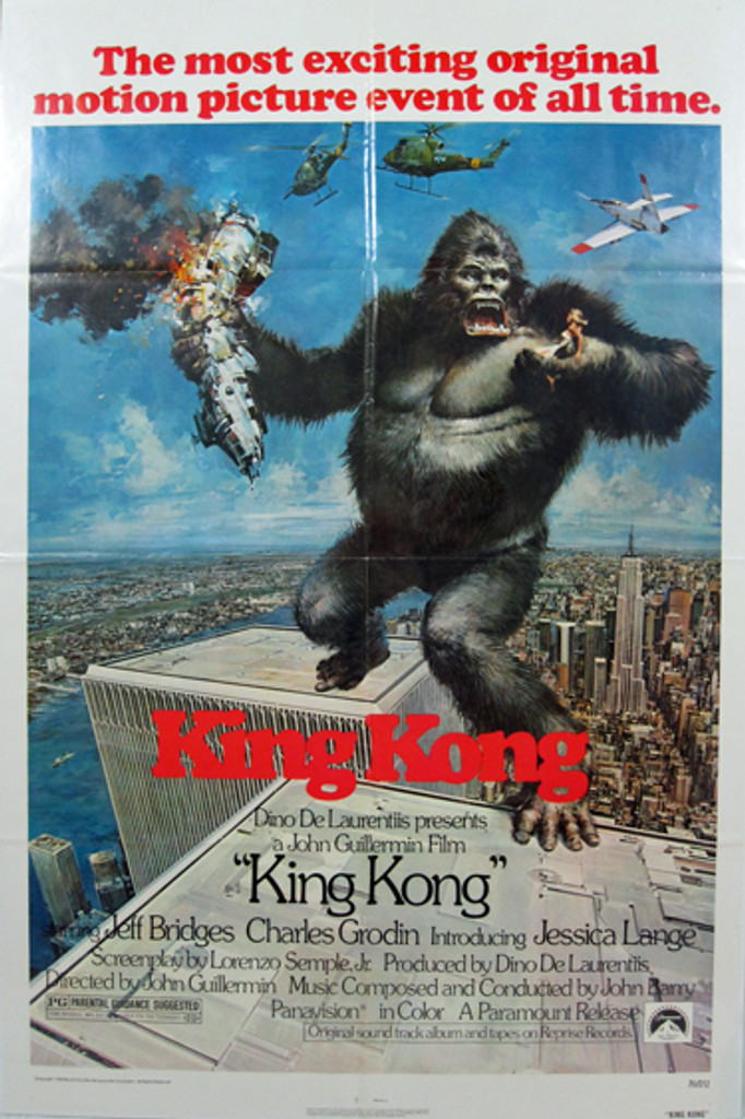 King Kong original movie poster from 1976 USA
