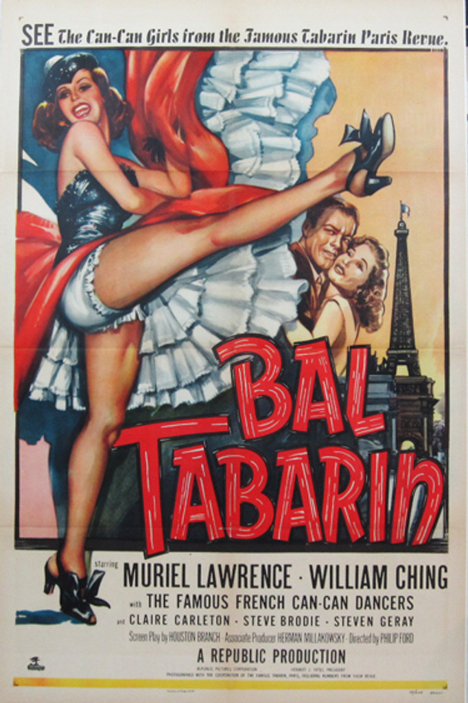 Bal Tabarin original movie poster from 1952 USA