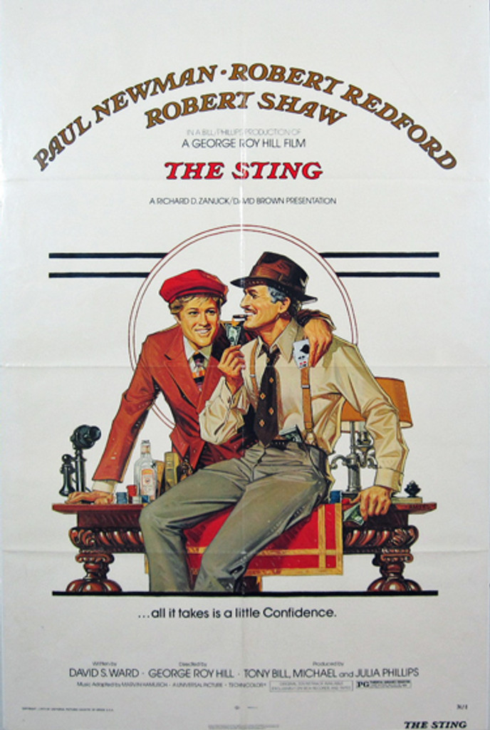 The Sting original movie poster from 1974 USA