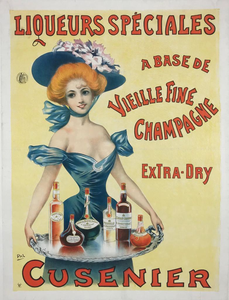 1898 Cusenier Liqueurs Speciales Poster by Pal