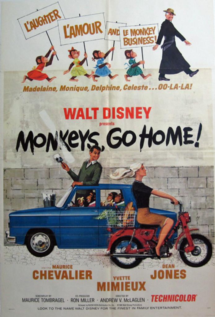Monkeys go home! Original Movie Poster from 1967 USA