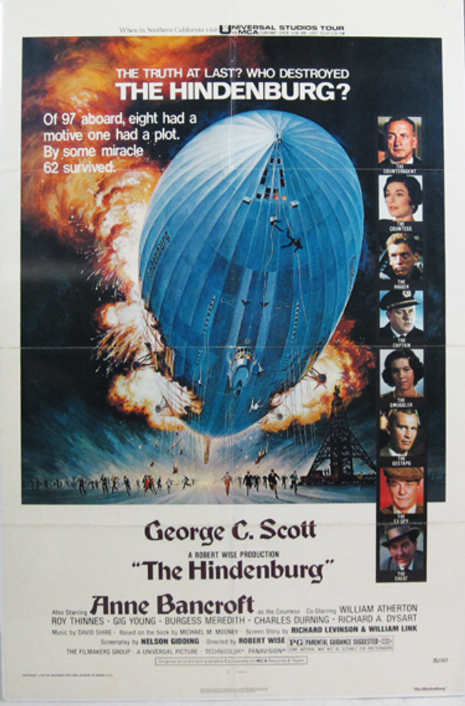 The Hindenburg original movie poster from 1975 USA