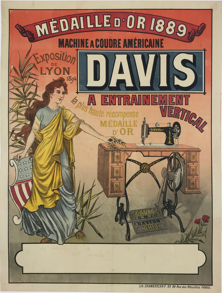 Davis Sewing Machine A Coudre Americaine Poster