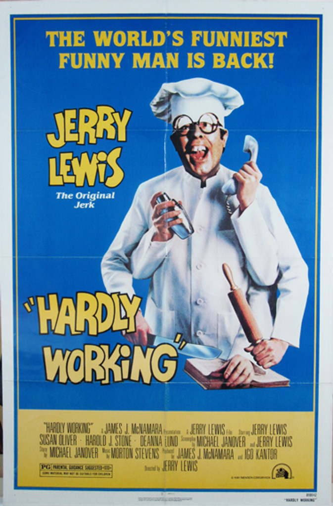 Hardly working original movie poster from 1981 USA
