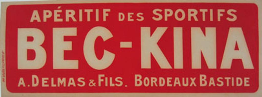 Kina-Bec Aperitif original vintage poster from 1920 France