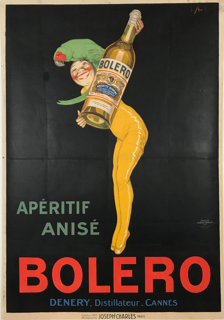 1926 French Bolero Aperitif Anise Poster by Stall