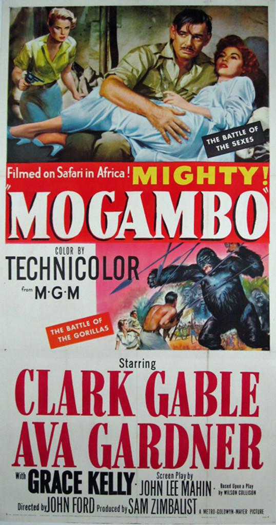 Mogambo (3-sheet) original movie poster from 1953 USA