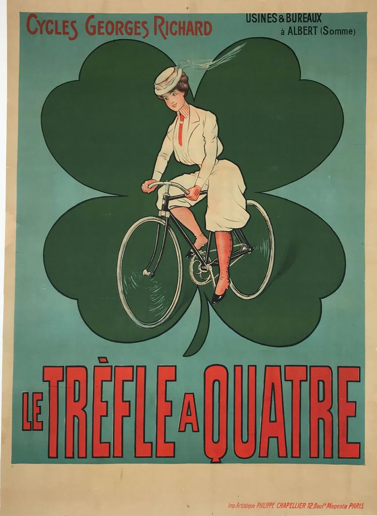 Cycles Georges Richard Le Trefle A Quatre Original Vintage Bicycles Poster