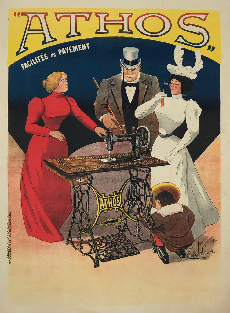Athos Sewing Machine Company Poster by Emile LaBouret
