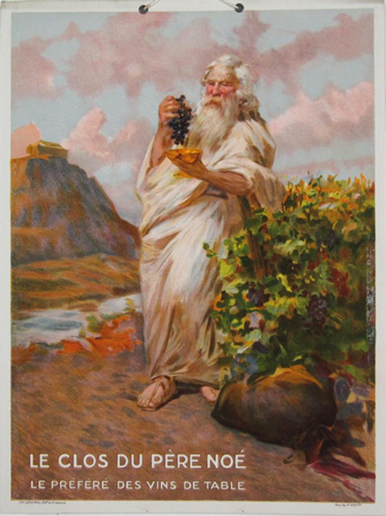 Le Clos Du Pere Noe original vintage poster from 1920 France