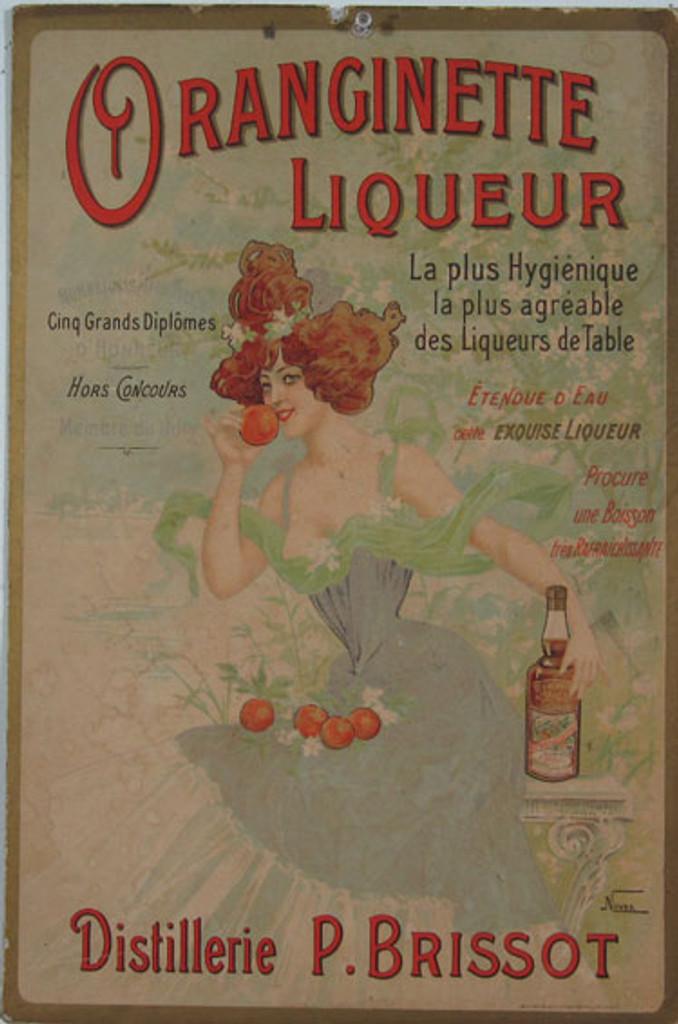 Oranginette Liqueur (Carton) by Nover original vintage poster from 1903 France