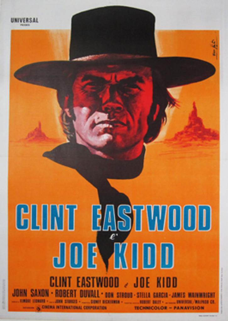 Clint Eastwood Joe Kidd Original Movie Poster from 1972 Italy