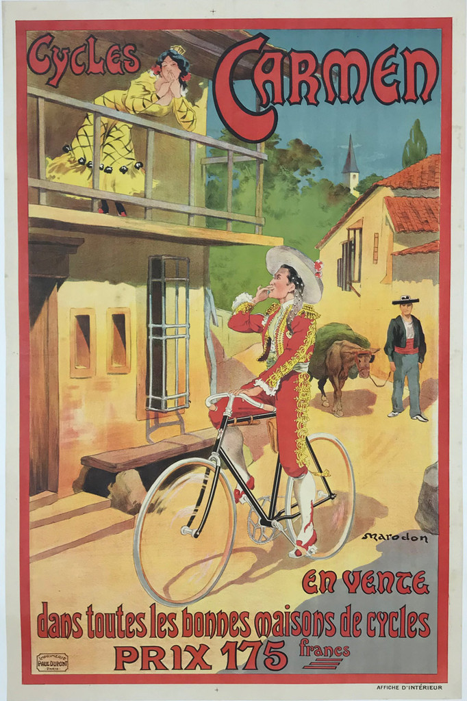 1900's French Cycles Carmen Poster by Marodon