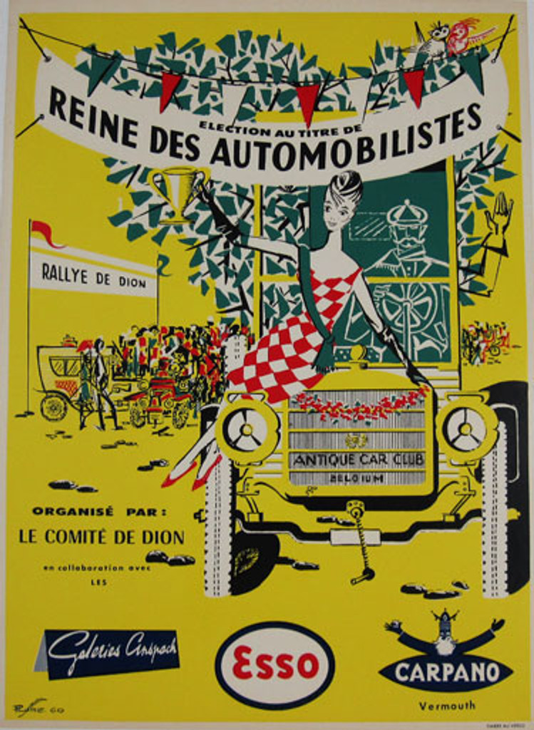 Automobilistes by P. Lume original vintage poster from 1960 Belgium Car Club Belguim