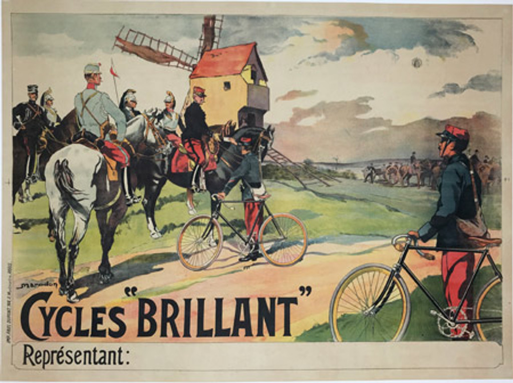 Original French 1905 Cycles Brillant Poster by M. Marodon