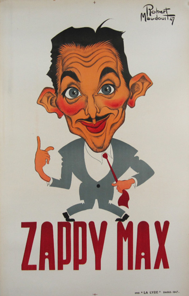 Zappy Max original vintage poster by Robert Maudouit from 1947 France