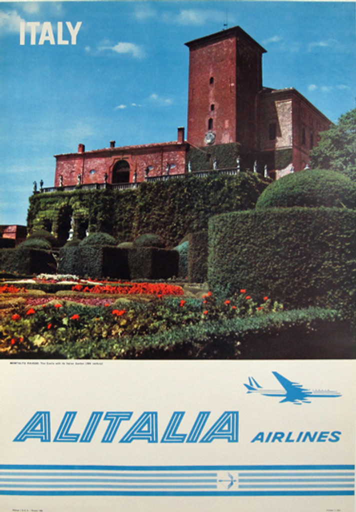 Italy Alitalia Airlines original travel poster from 1962.