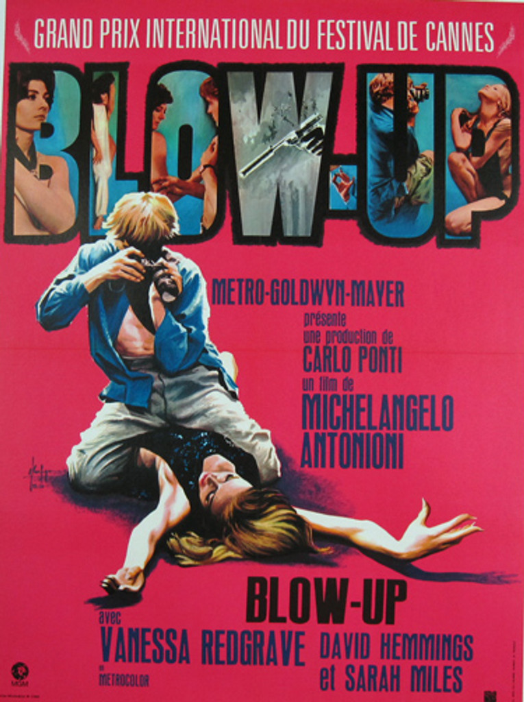 Blow-Up Original Movie Poster from 1969 France
