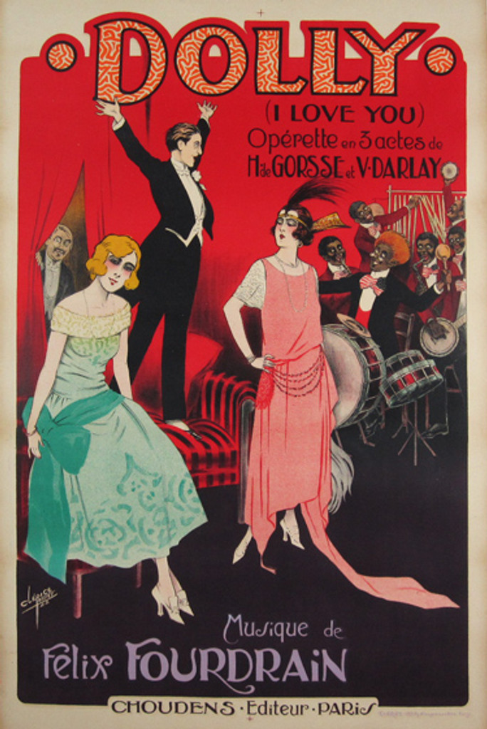 Dolly (I Love You) Operette Original French Poster by Clerice from 1922.