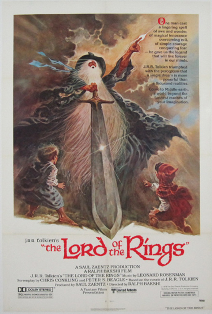 Lord of the Rings Original Movie Poster from 1978.