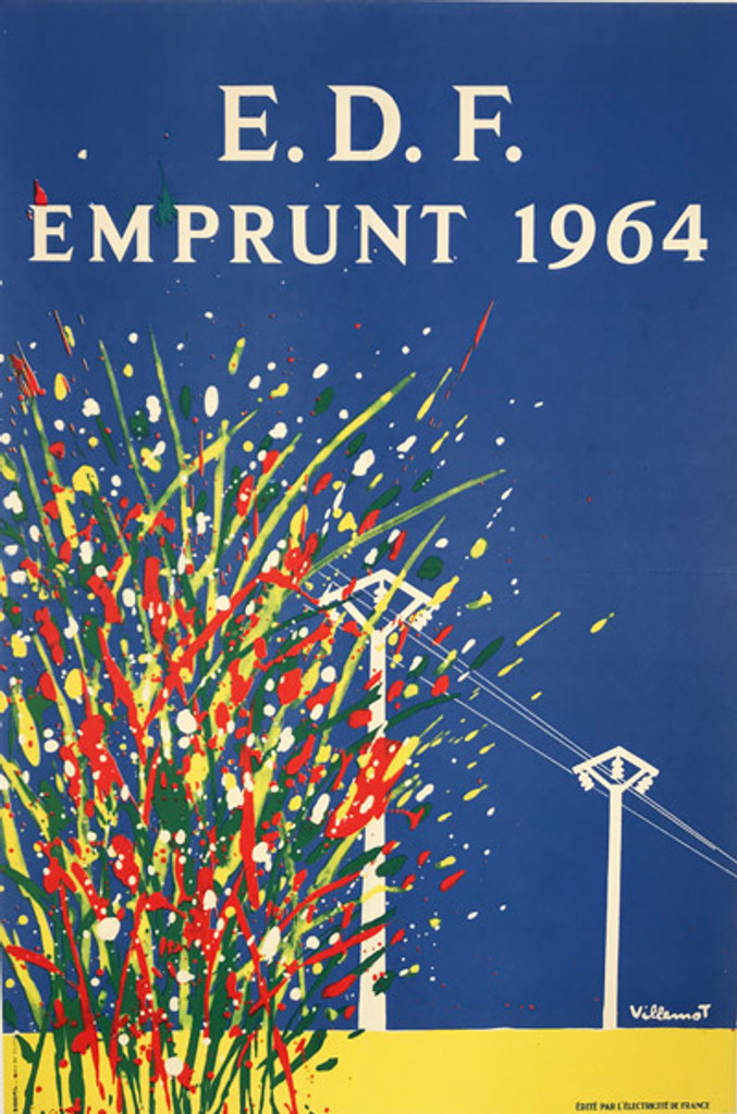 French 1964 E.D.F. Emprunt Electricite Poster