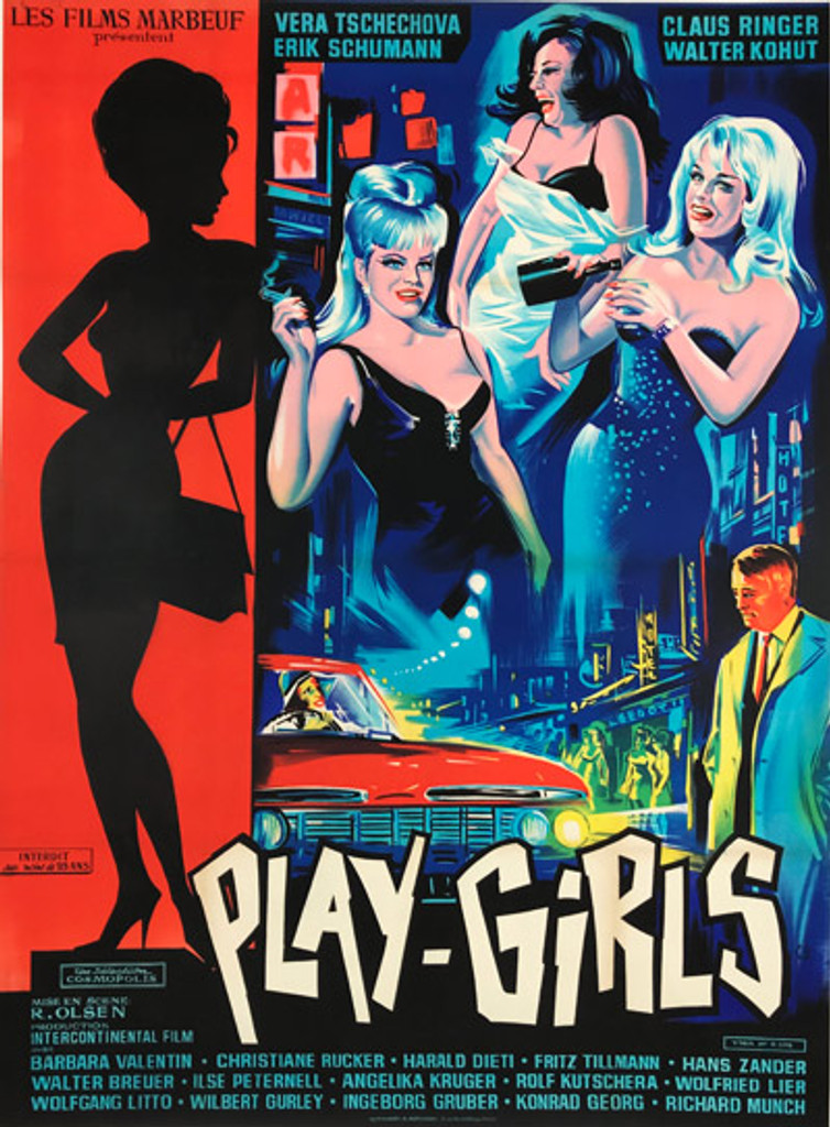 Play Girls of Frankfort original movie poster 1967 French Release